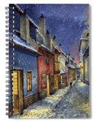 Prague Golden Line Winter Spiral Notebook
