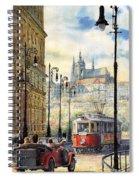 Prague Kaprova Street Spiral Notebook