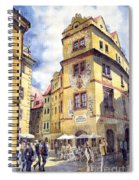 Prague Karlova Street Hotel U Zlate Studny Spiral Notebook