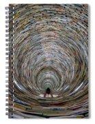 Prague Library Book Tower Spiral Notebook