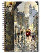 Prague Mostecka Street Spiral Notebook