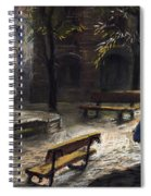 Prague Old Fountain Spiral Notebook