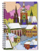 Prague Old Roofs Prague Castle Winter Spiral Notebook