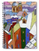Prague Old Roofs Winter Spiral Notebook