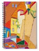 Prague Old Street Ceminska Novy Svet Spiral Notebook