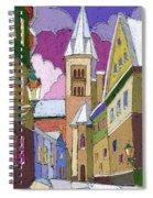 Prague Old Street Jilska Winter Spiral Notebook