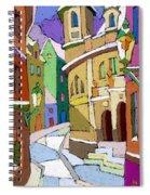 Prague Old Street Karlova Winter Spiral Notebook