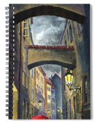 Prague Old Street Love Story Spiral Notebook
