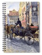 Prague Old Town Hall And Astronomical Clock Spiral Notebook