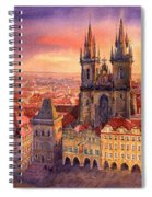 Prague Old Town Square 02 Spiral Notebook