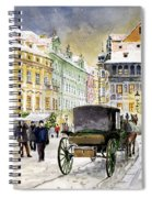 Prague Old Town Square Winter Spiral Notebook
