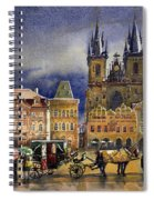 Prague Old Town Squere After Rain Spiral Notebook