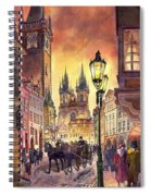 Prague Old Town Squere Spiral Notebook
