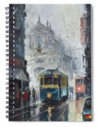 Prague Old Tram 04 Spiral Notebook