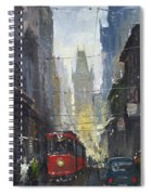 Prague Old Tram 05 Spiral Notebook