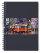 Prague Old Tram 09 Spiral Notebook