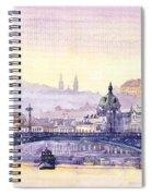 Prague Panorama Chehuv Bridge Spiral Notebook