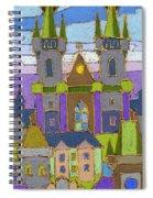 Prague Panorama Spiral Notebook