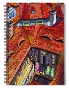 Prague Roofs 01 Spiral Notebook