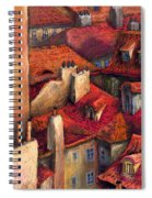 Prague Roofs Spiral Notebook