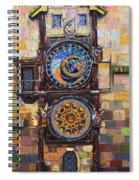 Prague The Horologue At Oldtownhall Spiral Notebook