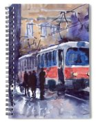 Prague Tram 02 Spiral Notebook