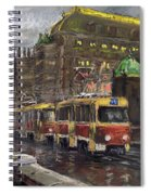 Prague Tram Legii Bridge National Theatre Spiral Notebook