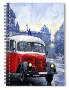 Praha Rnd Bus 1950 Skoda 706 Ro Spiral Notebook