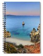Praia Do Camilo At Sunset  Spiral Notebook