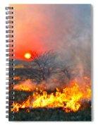 Prairie Burn Sunset In Kansas Spiral Notebook