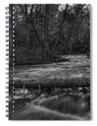 Prairie River Crossing Log Square Format Spiral Notebook