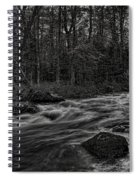 Prairie River Whitewater Black And White Spiral Notebook
