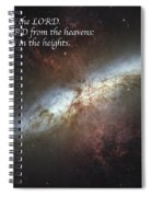 Praise Him From The Heavens Spiral Notebook
