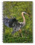 Prancing Heron Spiral Notebook