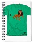 Prancing Lion Spiral Notebook