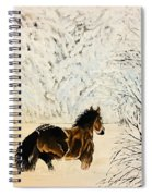 Prancing Through The Snow Spiral Notebook