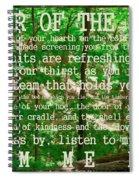 Prayer Of The Woods 2.0 Spiral Notebook
