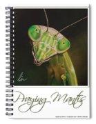 Praying Mantis Poster Spiral Notebook