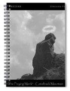 Praying Monk - Arizona - Poster Print Spiral Notebook