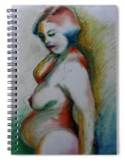 Pregnant Nude Spiral Notebook
