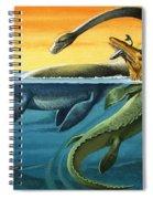 Prehistoric Creatures In The Ocean Spiral Notebook