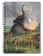Prehistoric Mammoth Hunt Spiral Notebook