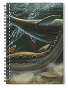 Prehistoric Marine Animals, Underwater View Spiral Notebook
