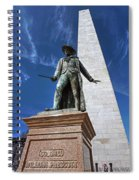 Prescott Statue On Bunker Hill Spiral Notebook