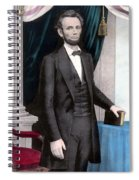 President Abraham Lincoln In Color Spiral Notebook