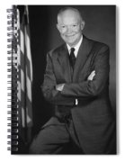 President Eisenhower And The U.s. Flag Spiral Notebook