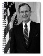 President George Bush Sr Spiral Notebook