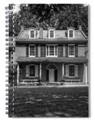 President James Buchanan's Wheatland In Black And White Spiral Notebook