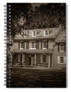 President James Buchanan's Wheatland In Sepia Spiral Notebook