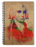 President James Madison Watercolor Portrait Spiral Notebook